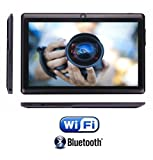 rotor® 7 Zoll Tablet PC ,Bluetooth ,HD Display 1024x600, Android 4.4,512 RAM, 4GB Speicher, Kamera, Pc, Quad Core Prozessor CPU Computer, Dual Kamera mit Spezialangeboten