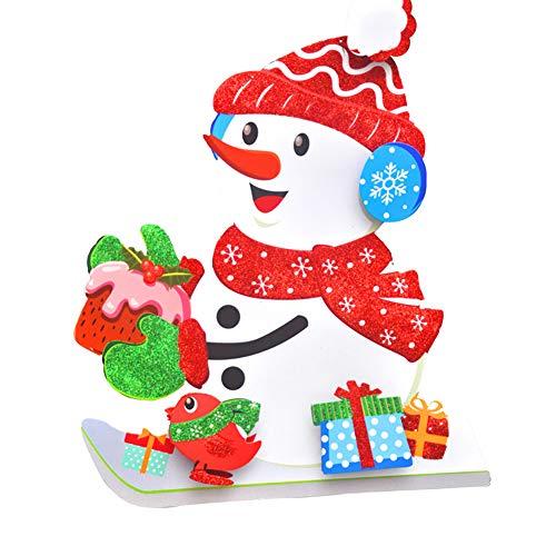1 PC 3D Christmas Ornaments Hanging Weihnachts Anhänger Dekorationen für Weihnachtsbaum Neujahr Fenster, Tür, Wand-Decken-Dekor (Schneemann) (Decke Dekor Weihnachten)