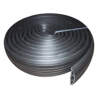 kenable Black Rubber Floor Cable Protector 19 x 9.5mm Inner Channel 3m 9ft