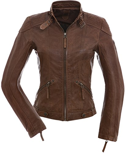 Gipsy Tiffy Damen Lederjacke in Braun