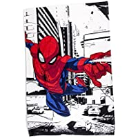 Spiderman Fleece Blanket Throw | Classic Spiderman Metropolis Design Super Soft Blanket | Perfect For Any Children's Bedroom