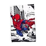 Spiderman Polaire Couvre-lit | Classique Metropolis Motif Super Doux Couverture | Idéal pour n'importe Quelle Chambre d'enfant...