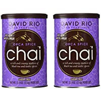 2 canisters of Orca Spice Sugar-Free Chai, 11.9oz. by David Rio