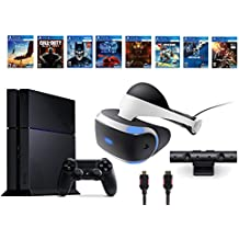 PlayStation VR Bundle 10 Items:VR Headset,Playstation Camera,PS4 Call of Duty Black Ops III,7 VR Game Disc Rush of Blood,Valkyrie, Battlezone,Batman:Arkham VR, DriveClub,Combat (Version US, Importée)
