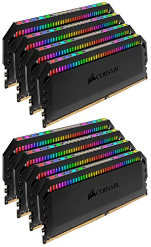 Corsair Dominator Platinum RGB 128 GB (8 x 16 GB) DDR4 3600 MHz C18, Enthusiast RGB LED Illuminated Memory Kit - Black Best Price and Cheapest