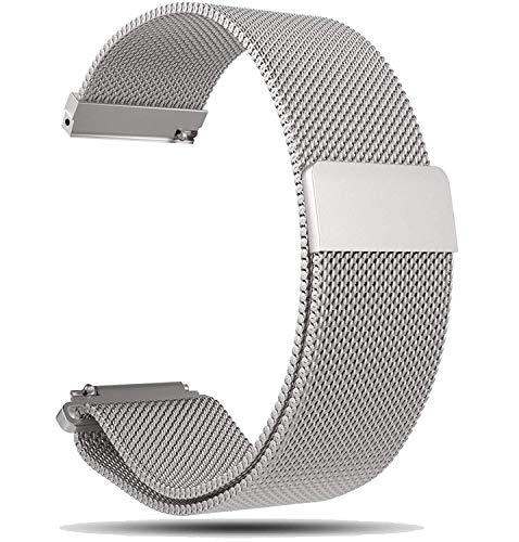 Ruentech Huawei Uhr GT/Huawei Honor Magic GPS Smartwatch Armband Super Magnetic, 22MM Milanese Loo (Silber-)