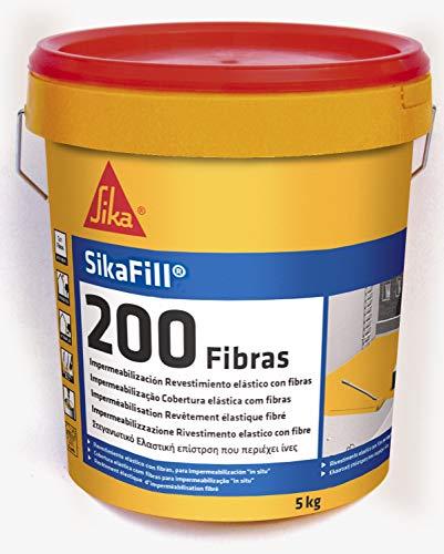 Sika M113845-Rivestimento impermeabilizzante elastico con 200fibre, 5kg, colore: grigio