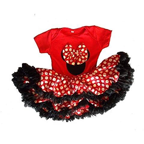 La muchacha de diseño de Mickey Mouse/diseño de ratón con de fotos de bebé infantil con diseño de/Mono corto de/para vestido de la fiesta de traje de baño de sharla fults muñeca con vestido