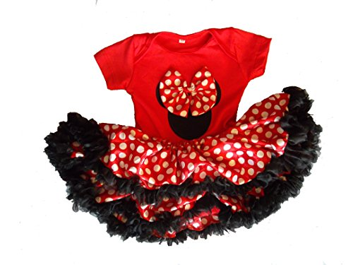 Disney Baby Mädchen (0-24 Monate) Kleid Red Black White 9-12 (Kostüme Beste Disney)