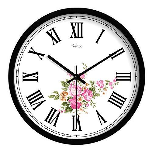 Homeclock orologio da parete retrò rustico numeri romani classifiche classiche da muro in metallo nostalgico muto orologio al quarzo 14 pollici b2