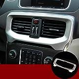 Trim della copertura dellaccensione dellauto copertura del telaio del pulsante di avviamento del motore di accensione interna dellauto adatta per Alfa Romeo Stelvio//Giulia