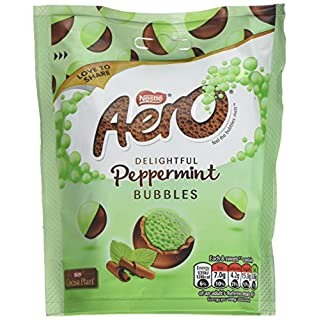 Nestlé Aero Bubbles Peppermint Pouch, 102g (Pack of 8)