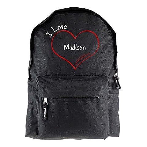 Rucksack Modern I Love Madison schwarz (Madison Kaffee)