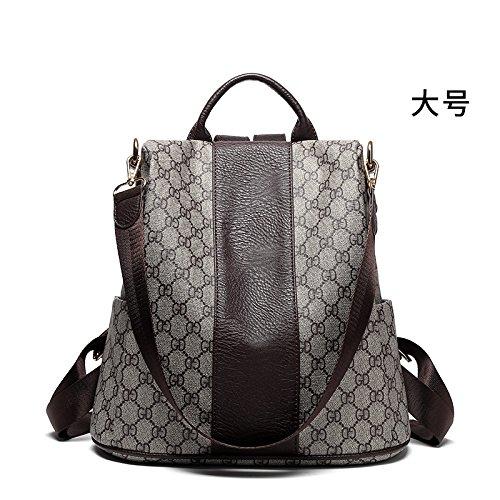 Koreanischer Mode anti-Diebstahl Rucksack 2018 weibliche neue Taschen Freizeit trend Alle-match dual-purpose Vintage British Rucksack, Kaffee Trompete, 30 * 32 * 14 cm (Koffein Freien Kaffee)