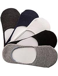 CHIC-CHIC Homme Lot de 5 Paires de Chaussettes Basses Invisible Protège Pied Socks Sport Respirable Souple EU 39-43 / US 7-10