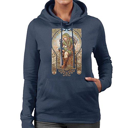 Zelda Link Hylian Spirit Women's Hooded Sweatshirt Navy blue