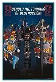 Close Up The Lego Ninjago Movie Poster Garmadon Destruction (94x63,5 cm) gerahmt in: Rahmen türkis