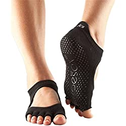 ToeSox half toe with grip - Bella, Black - medium