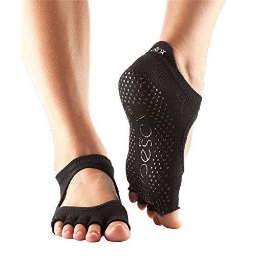 ToeSox half toe with grip - Bella, Black - medium