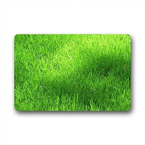 DOUBEE Generisches Design Gras Grün Fussmatte Schmutzmatte Haus Fußabstreifer 46cm X 76cm (Grünes Gras Mat)