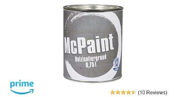 Mcpaint Isoliergrund Fur Holz Farbton Weiss 0 75 Liter Amazon De