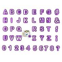 SwirlColor Alphabet Cake Capital Alphabet Letters Fondant Cake Decorating Cookie Cutter Mold Set - 40pcs