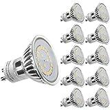 LE Lot de 10 Ampoules LED GU10 3.5W MR16, Équivalent Ampoule Halogène 50W, 350lm, Lumière du ...