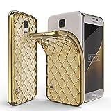 UrCover Galaxy S5 Custodia, Diamond Back Cover Silicone TPU Bumper Shock-Absorption Custodia Protettiva Samsung Galaxy S5 5,1 Pollici in Oro