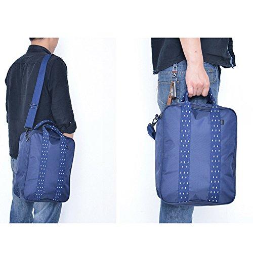 YB viajes equipaje bolsa multifuncional de almacenamiento bolso pequeño artículos Ropa Organizador ordenador bolsa maleta caso Ladies bolso bolsa, nailon impermeable, azul marino, 14.17*11*5.12 in