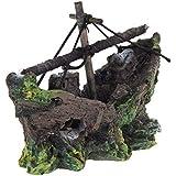 Ornement d¡¯aquarium - SODIAL(R)Bateau de peche de l¡¯ornement de la decoration de l¡¯Aquarium, 100 % Sguro pour les artisans de l¡¯aquarium