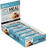 Optimum Nutrition Opti-Lean- Mahlzeitersatz Eiweiß-Riegel (mit Vitamin A, C, D und balaststoffreich, Fettarmer Protein Bar von ON) Salted Caramel, 1er Pack (12 x 60g)