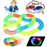Innoo Tech Magique Circuit de Voiture, Piste de Voiture Flexible Glow Tracks Course Enfant | 220 pcs Bendable - 2 Voitures de Course Lumineuses avec 4 Lumières LED, Cadeau pour Enfant Jouets 3 années
