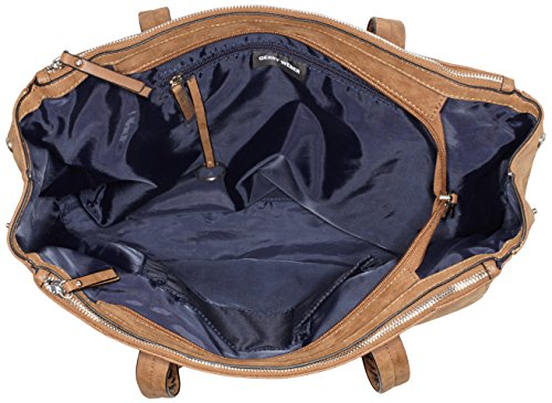 Gerry Weber Damen Intrecciato Ii Buissnessshopper Lhz Schultertasche, 14x28x41 Cm Braun (cognac)