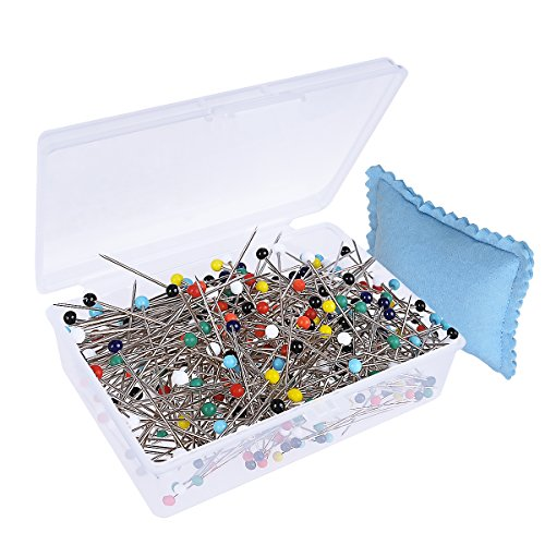 HusDow-300Pcs-Sewing-Pins-Glass-Head-Pins-38mm-Multicolor-Quilting-Pins-with-Box-and-Pincushions-for-Dressmaking-Jewelry-Components-Flower-Decoration