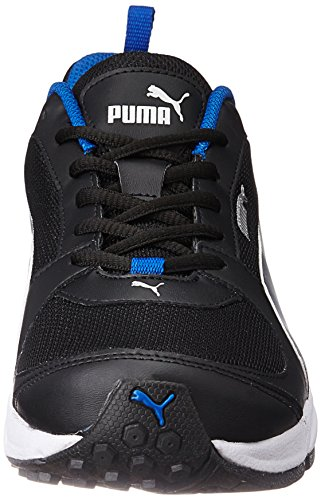 puma black blue shoes