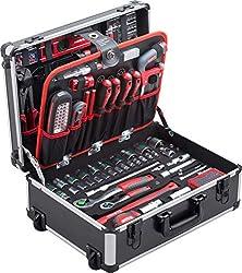 Voll ausgestatteter Werkzeugkoffer für anspruchsvolle Heimwerker.