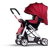 Anna Sistema di viaggio per passeggini per bambini L'automobile dell'ombrello della luce del carrello del bambino La rotazione di quattro-ruota del dispositivo di piegatura può essere dei carrelli dei bambini Passeggino regolabile immagine