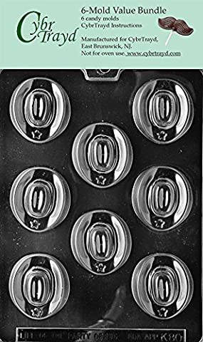 Cybrtrayd K080–6bundle Cowboy Hats Chocolate Candy Mold with Exclusive Copyrighted Chocolate Molding Instructions by Cybrtrayd