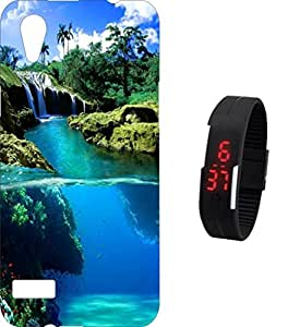 BKDT Marketing Printed Back Cover for Oppo Mirror 5 wih Digital Watch