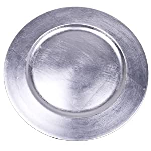 Standard Silver Round Charger Plate - 33cm Diameter