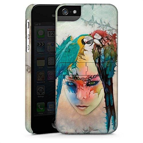 Apple iPhone 5 Housse Étui Silicone Coque Protection Perroquet Oiseau Ressort CasStandup blanc