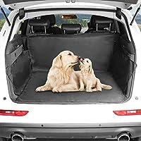 Car Boot Liner, ELOKI Heavy Duty Universal Auto Rear Seat Car Boot Protector Cover, Waterproof Pet Seat Mat Hammock Back Seat Cover for Most Cars, SUV, Vans, Trucks, Black(147*137CM)