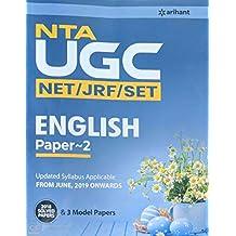 NTA UGC (NET/JRF/SET) ENGLISH Literature Paper 2