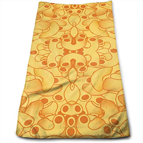 Macaroni and Cheese 100% Cotton Towels Ultra Soft & Absorbent Bathroom Towels - Great Shower Towels, Hotel Towels & Gym Towels