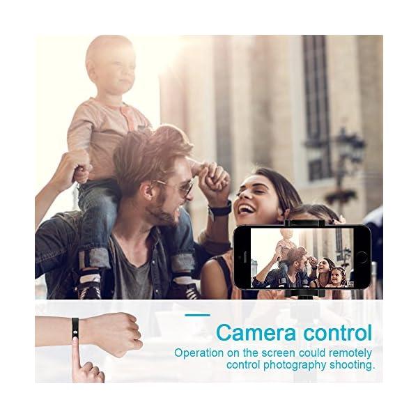 AIMIUVEI Pulsera Actividad Pulsera Inteligente Impermeable con 3 Correas Recambias, Reloj Inteligente Mujer y Hombre,Podómetro,Cronómetros,Despertador,Cámara Control,Compatible con iOS y Android 8