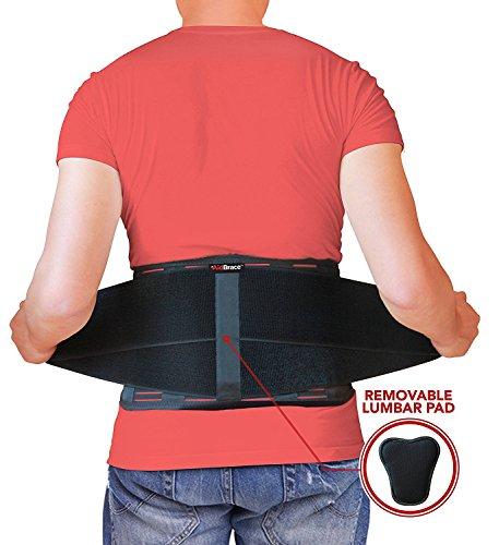 Cinturón de soporte corrector de postura AidBrace – ayuda a aliviar el dolor de espalda, problemas de ciática, escoliosis, hernias discales o enfermedades degenerativas en los discos (L/XL)