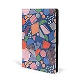 COOSUN Cubierta de piel para libro de geometría abstracta Sox para la mayoría de libros de texto de 5,8' x 8,7'