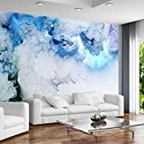 YUANLINGWEI Benutzerdefinierte Jede Größe Wandbild Blaue Wolke 3D Wallpaper Wohnzimmer Hintergrund Wand Dekoration,100cm (H) X 200cm (W)