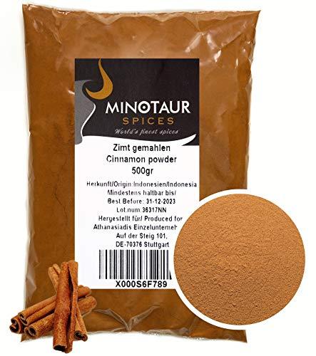 Minotaur Spices   Zimt gemahlen, Zimtpulver mild, 2 X 500g (1 Kg)