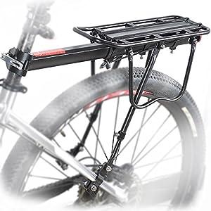 MAIKEHIGH Einstellbare Träger Fahrrad Gepäckträger Fahrradzubehör Ausrüstung Ständer Reitstock Fahrradträger Racks mit Reflektor by MAIKEHIGH